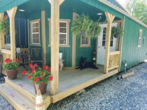 Old Hickory Shed Delux Lofted Playhouse