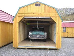 Old Hickory Shed Side Lofted Garage